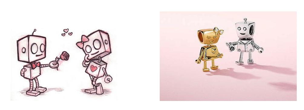 Обратите внимание на два последних шарма. Помните робота Беллу из весенней коллекции  2018года  Теперь у нее появился «кавалер» — Роб Бот — симпатичный ... bd137d591a3