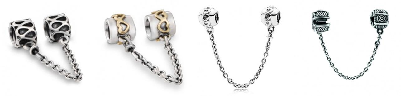 Защитная цепочка на браслет пандора