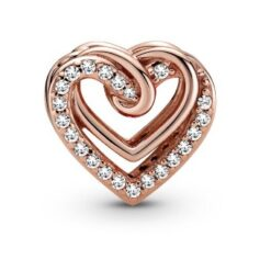 789270C01 шарм пандора блестящие переплетенные сердца пандора