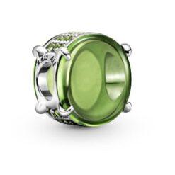 799309C02 шарм зеленый кабошон pandora оригинал